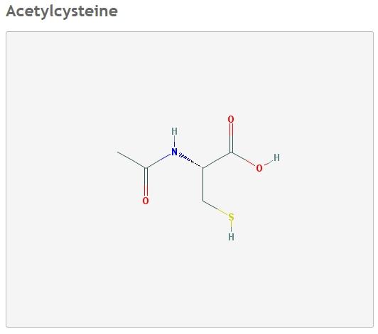 Н-ацетил—цистеин формула